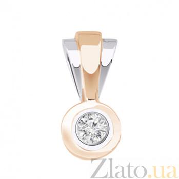 Золотая подвеска с бриллиантом Идеал KBL--П036/крас/брил