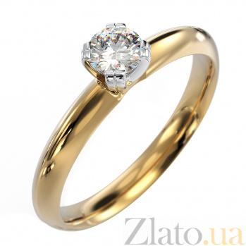 Золотое помолвочное кольцо Джулия в комбинированном цвете с бриллиантом VLA--14480