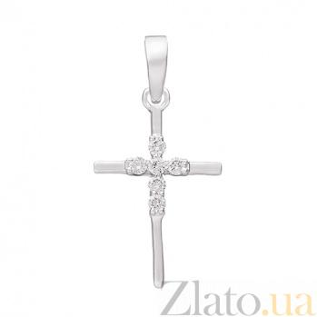 Крест из белого золота с бриллиантами Восхождение 000032615