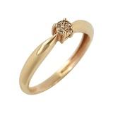 Золотое кольцо с бриллиантом Миранда