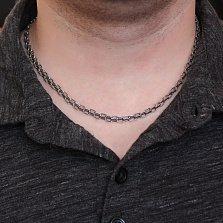 Серебряная чернёная цепь Примикс, 5мм