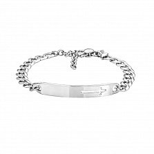 Серебряный браслет в панцирном плетении 000131691