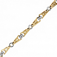 Золотая цепь в комбинированном цвете Ландграф