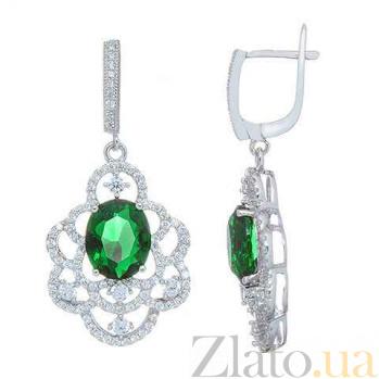 Серебряные женские серьги Ажур AQA--E0515-G