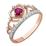 Кольцо из красного золота с бриллиантами Каприз королевы