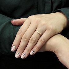 Позолоченное серебряное кольцо Дианета с насечкой и продольными желобками