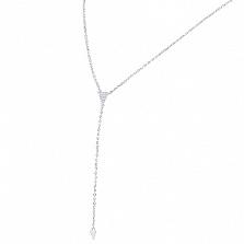Колье из серебра Альда с цирконием