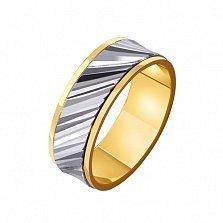 Золотое обручальное кольцо Мелодия сердца