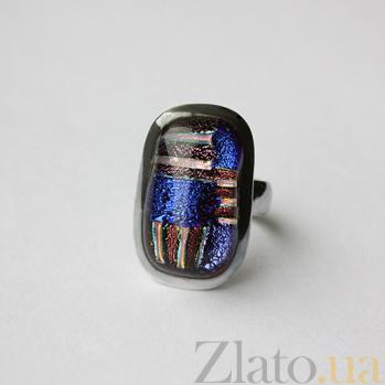 Серебряное кольцо с имитацией опала Экспрессионизм 000007021