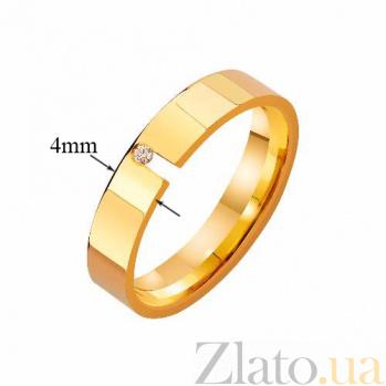 Золотое обручальное кольцо Страж верности с фианитом TRF--4121269
