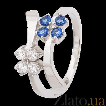 Серебряное кольцо с фианитами Пора цветения 000025674