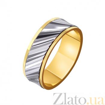 Золотое обручальное кольцо Мелодия сердца TRF--4411598