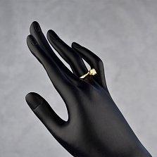 Золотое помолвочное кольцо Доналес в желтом цвете с бриллиантом