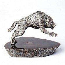 Серебряная статуэтка Волк