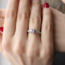 Кольцо из белого золота Алевтина с бриллиантами