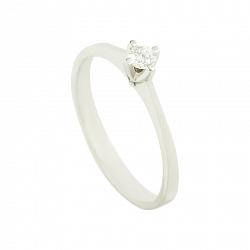 Золотое помолвочное кольцо с бриллиантом Предложение