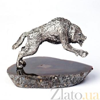 Серебряная статуэтка Волк 266