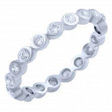 Серебряное кольцо Селения с фианитами