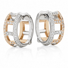 Серьги Argile-F из белого и розового золота