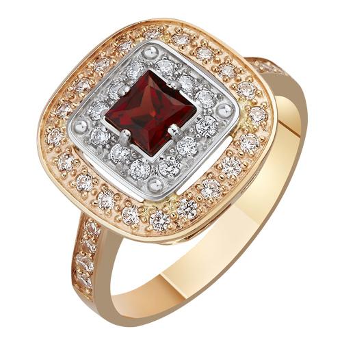Золотое кольцо с гранатом Роксана AUR--31764 03