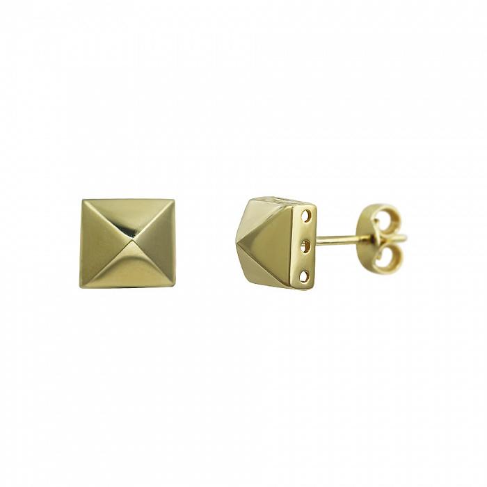 Серьги-пуссеты из желтого золота Идан 000081450
