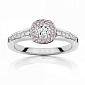 Кольцо Argile из белого золота с розовыми сапфирами и бриллиантами R-cjAr-W-14s-13d