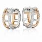 Серьги Argile-F из белого и розового золота E-ArF-W/R-176d