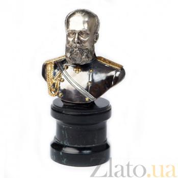Серебряная статуэтка бюст Николай Второй 463/к