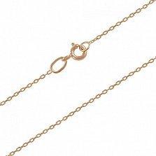 Золотая цепь Каталония в свободном якорном плетении, 1мм