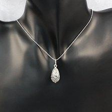 Серебряная ладанка-мощевик Божья Матерь с золотой накладкой