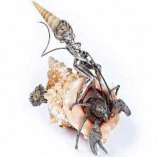Серебряная композиция Морская наездница