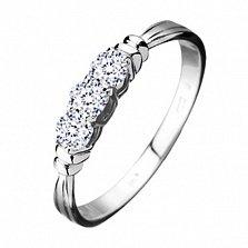 Обручальное кольцо из белого золота с бриллиантами Венера