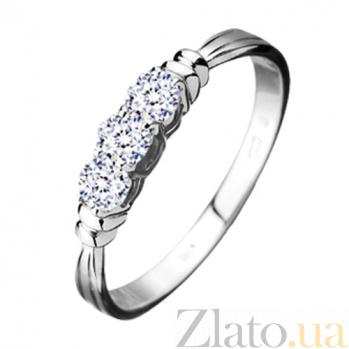 Обручальное кольцо из белого золота с бриллиантами Венера  KBL--К1417/бел/брил