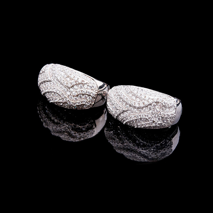 Серебряные серьги Франческа с кристаллами циркония 000080155