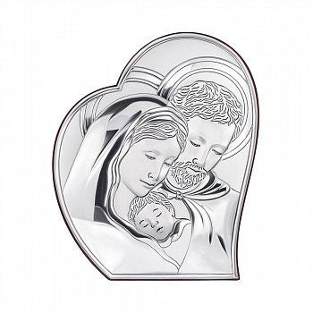 Серебряная икона Святое Семейство 000123580