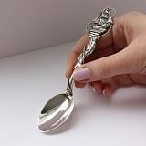 Серебряная чайная ложка Кораблик