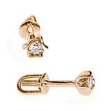Серьги-пуссеты с бриллиантами Laura