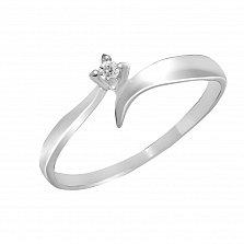 Кольцо из белого золота Серенада с бриллиантом