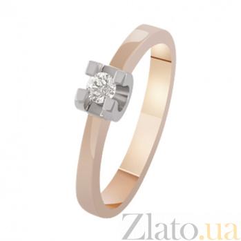 Золотое кольцо Рапсодия любви KBL--К1654/крас/брил