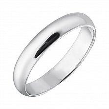 Серебряное обручальное кольцо Искренние чувства