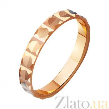 Золотое обручальное кольцо Гармония отношений TRF--411007