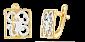 Серебряные серьги Абстракционизм SLX--С32/137