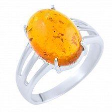 Кольцо из серебра Санни с янтарем