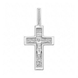 Серебряный крестик 000124425