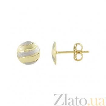 Золотые серьги-пуссеты Сладкий миг 2С088-0279