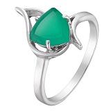 Серебряное кольцо Селин с агатом