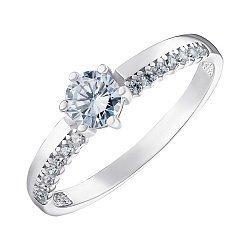 Серебряное кольцо с фианитами 000148306