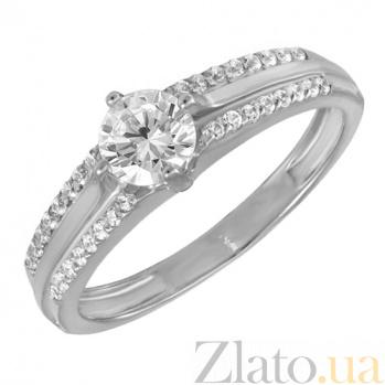 Кольцо в белом золоте Глория с фианитами 000023211