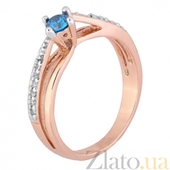 Серебряное кольцо с голубым фианитом Балет 000028220