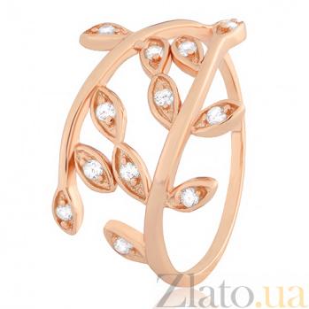 Кольцо из серебра с позолотой и фианитами Лавр 000025571